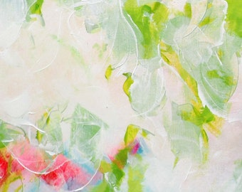 Abstract Set of Lime Green Floral Fine Art Prints, Home Decor, Interior Design, Modern Large Wall Art