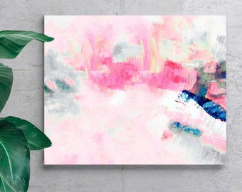 Pink Aesthetic Abstract Art Print, Contemporary Modern Living room Art, Home Office, Wall Decor, UK