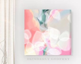 White Elements, Abstract Art Print, Soft Pink Modern Wall Art, Zen Home Decor, Bedroom Art, UK
