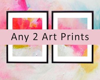 Fine Art Print Set, Colorful Abstract Wall Art, Oversized Canvas Wall Art, Interior design, Home Decor. UK