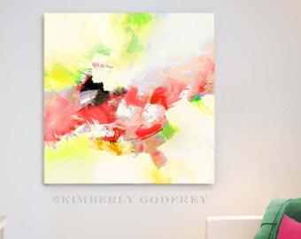 Yellow Dalia Splash, Abstract Flower Fine Art Print, Interior Design, Large Wall Decor, Bright Room Aesthetic, UK Artist