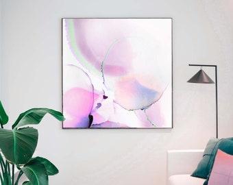 Minimal Ice Pink Pearl Abstract, Sheer Layered Art Print, Blush Crush, Modern Wall Art, Home Decor, Living room