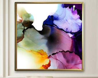 Amethyst & Sage Fine Art Print, Contemporary Abstract print, Modern Livingroom Decor, Interior Design