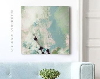 Sea Foam Green Abstract Print, Modern Interior Design, Grey Wall Decor, Blue Room Aesthetic, UK Artist
