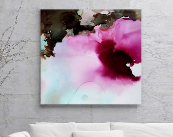 Dark Red Floral Fine Art Print, Atmospheric Mood, Jewel Tone Colors, Rose Abstract, Beautiful Art, Plum Blossom