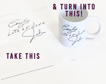 Handwriting Mug Etsy