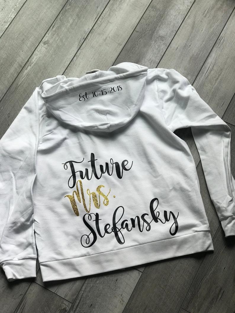 Future Mrs sweatshirt engagement party gift bridal shower gift winter engagement hoodie winter wedding cute bride shirt soon to be Mrs