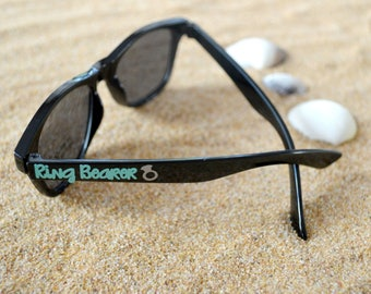 Kids personalized sunglasses, toddler sunglasses, youth glasses, summer vacation sunglasses, family vacation, july 4th, ring bearer gift