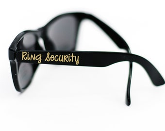 Ring Security Personalized Sunglasses, Toddler or Youth Kid Glasses, Ring Bearer Proposal Gift Idea for Wedding Party