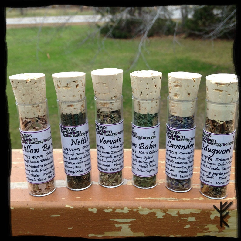 Herbal Witchcraft Set of 12, Magickal Herbs Assortment , Pagan Herbs, roots  and Flowers Set, Witchcraft Supply, Spell Kit, Pagan Supplies