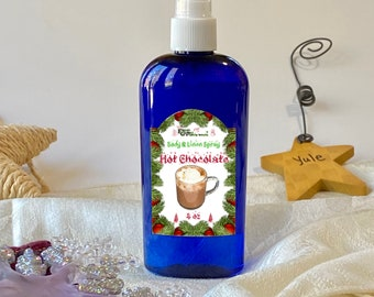 Chocolate Body Mist, Hot Cocoa Room and Linen Spray, Chocolate Lover Gifts Ready to Ship, Christmas Gifts for her, Holiday Spa Gifts