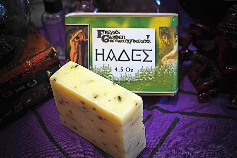 Hades Ritual Soap Peppermint Herbal Soap Minthe Soap Vegan image 0