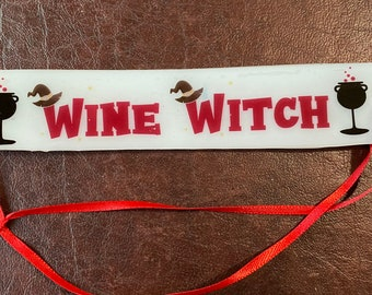 Wine Witch Bookmark , Pagan Bookmarks, Witchy Lifestyle