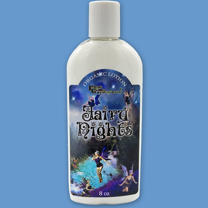 Scented Lotion  Fairy Nights Organic Lotion Vegan Skincare image 0