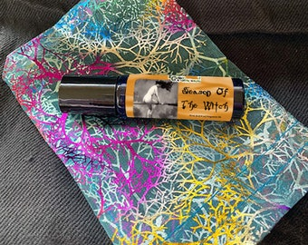 Season Of The Witch Perfume Roller Ball Roll-on Oil, Vegan Perfume, Pumpkin Spice Scent, Alcohol Free, Witchy Gifts, Body Oil Cruelty Free
