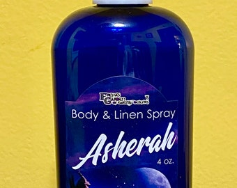 Goddess Asherah Body Mist and Room Spray, Ritual Spray, Perfume Mist gift for her, self care, witchy perfume, Canaanite Diety Ritual Oil