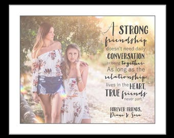 1 photo gift for best friend long distance friends gift christmas gifts for best friends christmas gift for her quote wall art prints