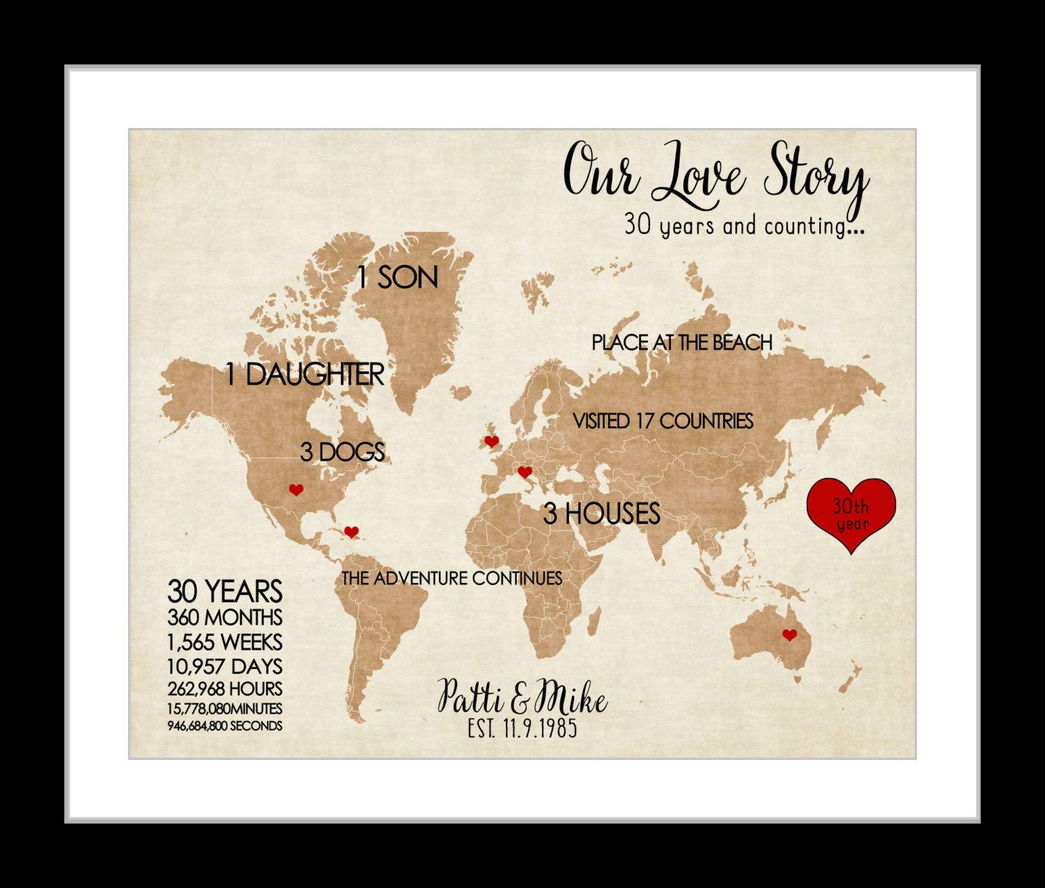 What Gift For 30th Wedding Anniversary: 1 25th Anniversary Gift For Parents 30th Wedding