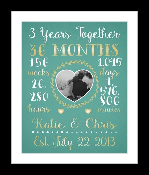 Any Or 3 Year Anniversary Gift 3 Year Wedding Anniversary Etsy