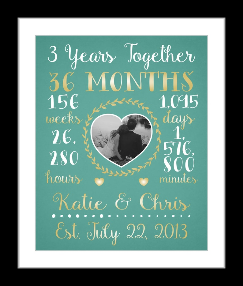 ffac8f20927a9 Any Or 3 Year Anniversary Gift 3 Year Wedding Anniversary