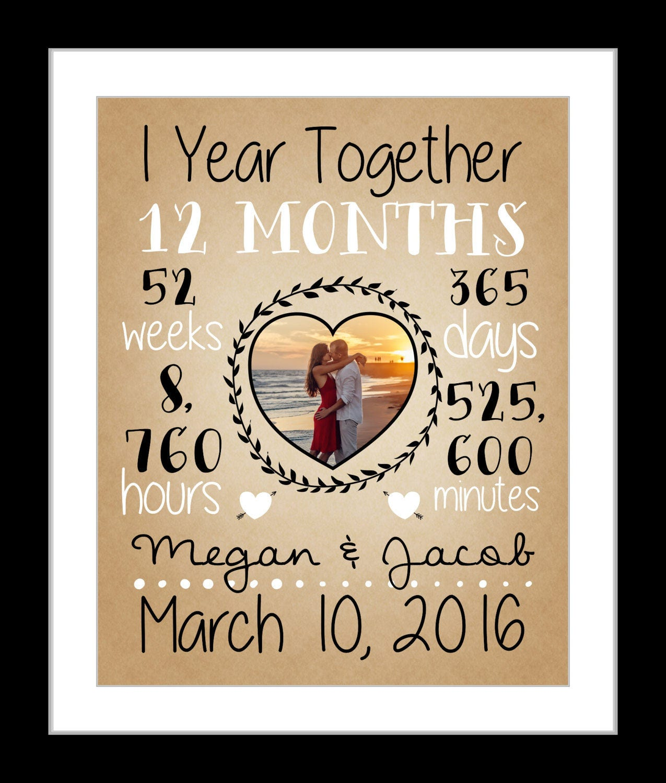 1 Jahr Hochzeitstag Geschenk erste Jahr Papier Jahrestag | Etsy