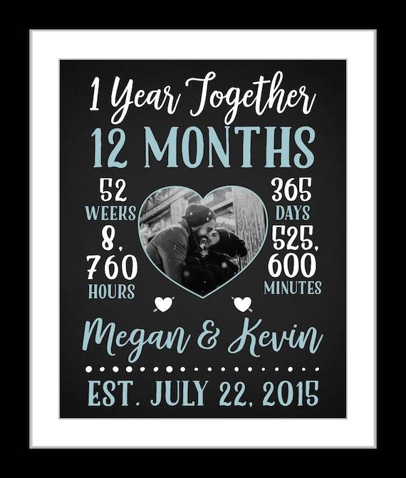 1 Boyfriend Anniversary Gift Boyfriend One Year Anniversary Etsy