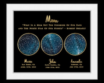 AS Constellation Map Print Personalized Mothers Day Gift Ideas Personalized Mom from Daughter Constellation Print 83468