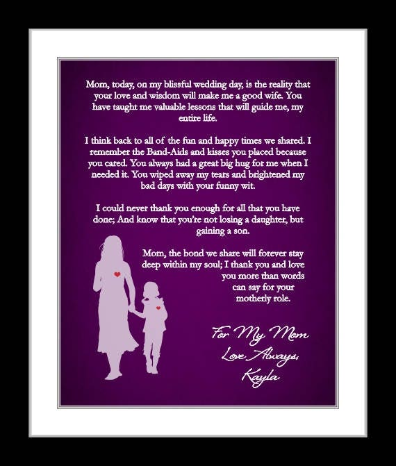 Parent Thank You Wedding Gift Thank You Poem From Both The Bride