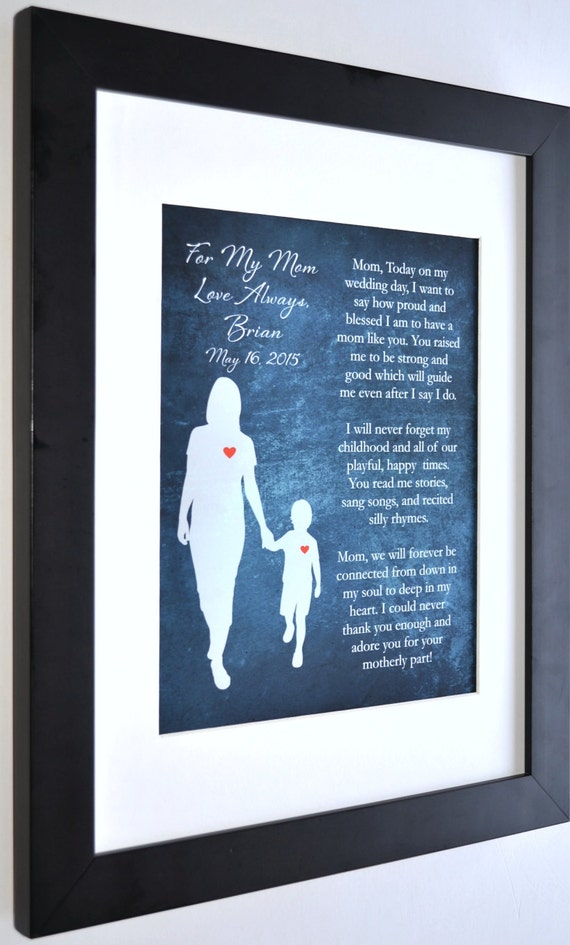 1 Gift For Mother Of The Groom Personalized Art Print Special Etsy
