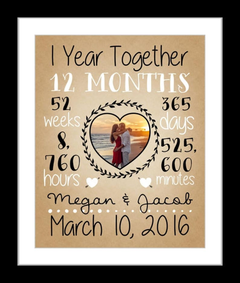 Custom anniversary gift for her 4th year fourth year anniversary present  for him 4 years custom date time together print year's wedding gift