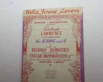 Sheet Music Hello Young Lovers - dollhouse miniature 1:12 scale