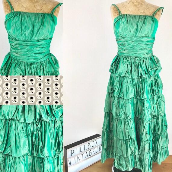 1950s beautiful Green Party dress