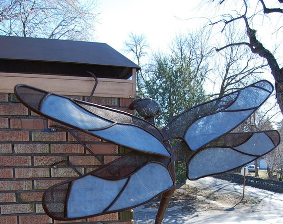Made to Order Outdoor Metal Dragonfly Sculpture Custom Made By Jacob Novinger