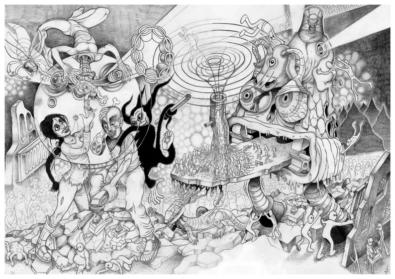 Furnace of Guts pencil drawing. image 0