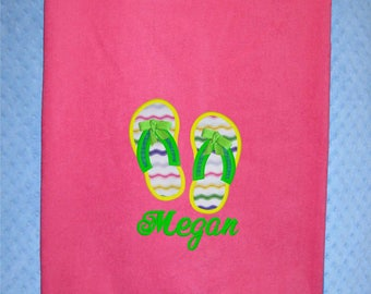 b9e330095b21 Flip Flop Beach Towel Personalized Beach Towel Extra Large