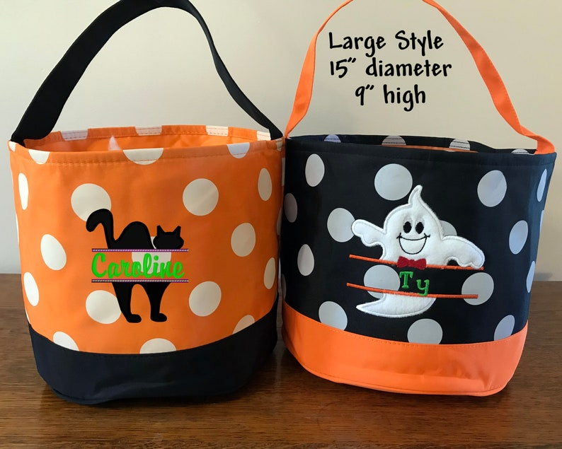 Halloween Personalized Toddler Candy Bags