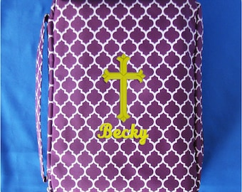 Easter religious etsy monogrammed bible case monogrammed bible cover first communion gift confirmation gift personalized negle Images