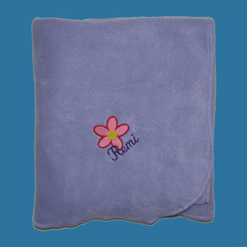 Personalized Baby Blanket Monogrammed Baby Blanket Baby Blanket Fleece Flower Baby Girl Blanket Personalized Fleece Baby Blanket Gift