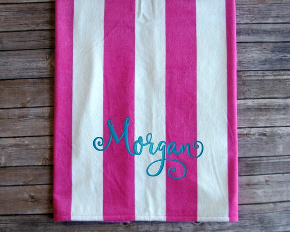 Large Monogrammed Beach Towels.Large Monogrammed Beach Towel Cabana Stripe Embroidered And Personalized Beach Towel Pool Towel For Graduation Gift Or Wedding Party Gift