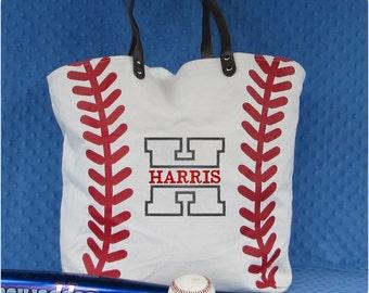 Baseball Mom Tote Bag, Monogrammed Baseball Tote Bag, Baseball Mom Gifts, Baseball Bag, Team Mom Baseball gift, Baseball Valentine Gift