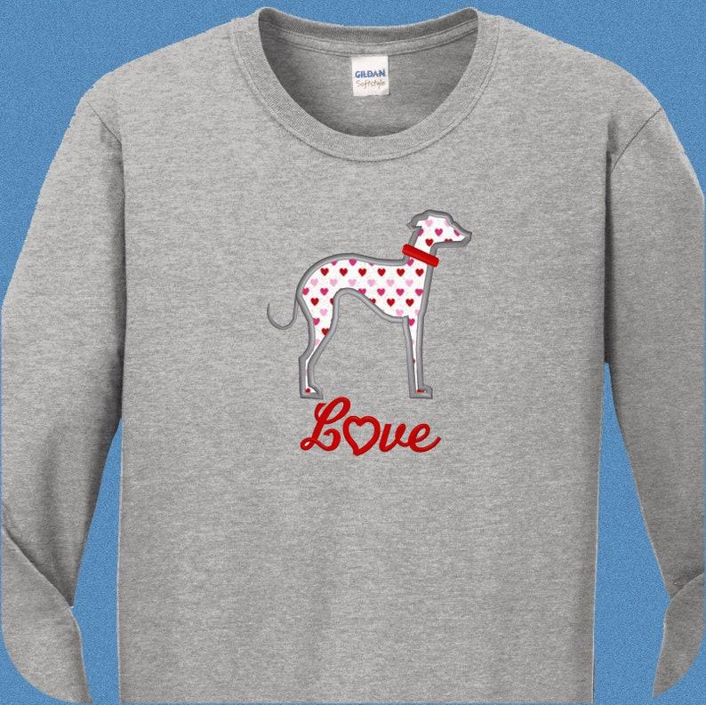 30118255791b17 Italian Greyhound Shirts Applique Greyhound Gifts for Dog   Etsy