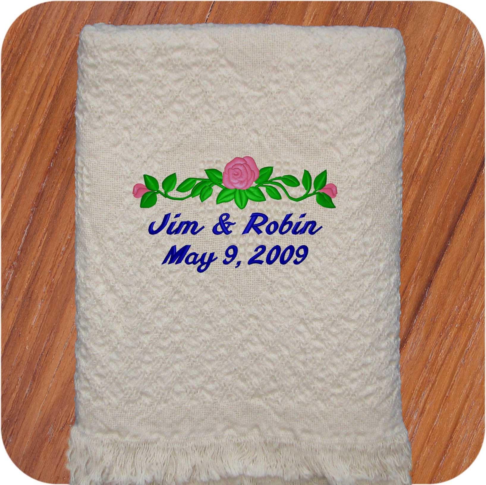 Personalized Wedding Blanket Wedding Throw Blankets