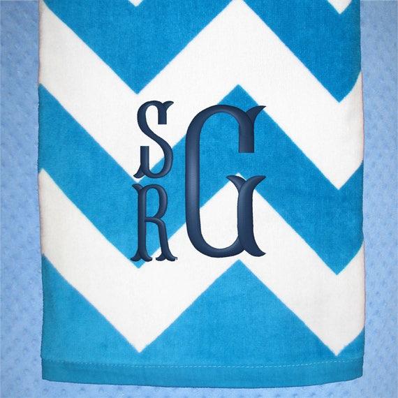 Personalized Beach Towel Monogrammed Beach Towels Kids Beach Towel Swim Team Towel Pool Towel Vacation Towel Spring Break Chevron
