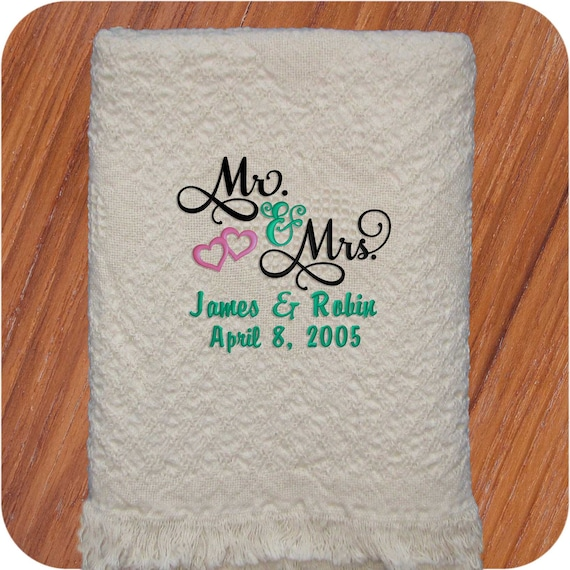 Personalized Wedding Throws Wedding Blanket Wedding Present Etsy Magnificent Personalized Wedding Throw Blanket