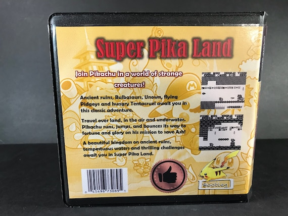 Super Pika Land ROM Hack Custom Case Gameboy Pikachu