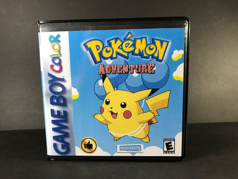 Pokemon Adventure ROM Hack Custom Game and Case Gameboy Color