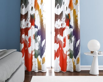 Multicolor Floral Curtains Bright Girl/'s Bedroom Decor Lightweight