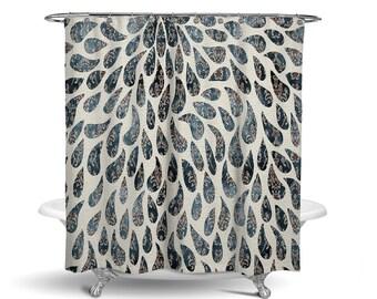 Victorian Rain Shower Curtain W Bathmat Set Options
