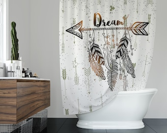 Arrow shower curtain | Etsy