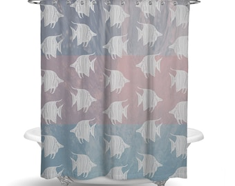 Nautical Boho Shower Curtain W Bathmat Set Option